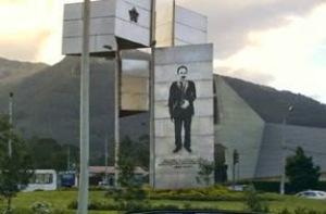 Monumento a José Martí en Quito, Ecuador. Obra del Arq. Fernando López