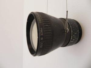 Contratiempo (Dibujo a punta seca sobre metal  y lente)