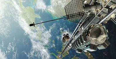 El principal cometido de la compañía espacial Thoth Technology Inc. Es transportar a los tripulantes hasta una plataforma desde la que pueden despegar naves espaciales, en una órbita baja terrestre. Foto: ABC