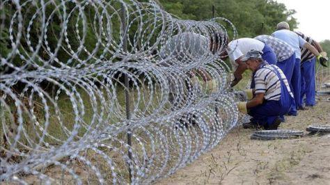 Valla contra los refugiados en Hungría