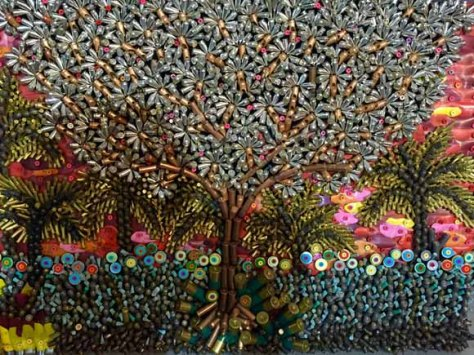 Quedamos en paz. Obra: Federico Uribe.