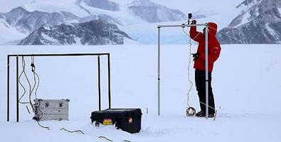 Los datos se obtuvieron durante una expedición celebrada entre noviembre y diciembre de 2015 a la Estación Científica Polar Conjunta Glaciar Unión, situada en la latitud 79 Sur, a unos mil kilómetros del Polo Sur. Foto: EFEFoto: EFE