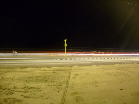 Autopista en silencio. Foto de Claudia González Machado