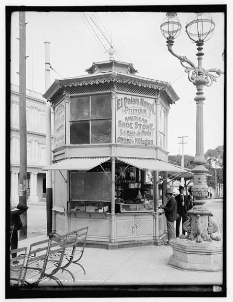 Habana, 1904. Negocio en una esquina