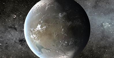 Un planeta a mil 200 años luz de la Tierra, conocido como Kepler-62f, posee condiciones para la vida. Foto: Internet