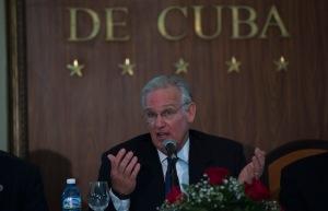 El gobernador de Missouri, Jay Nixon, en rueda de prensa en el Hotel Nacional de Cuba. Foto: Ismael Francisco/Cubadebate.