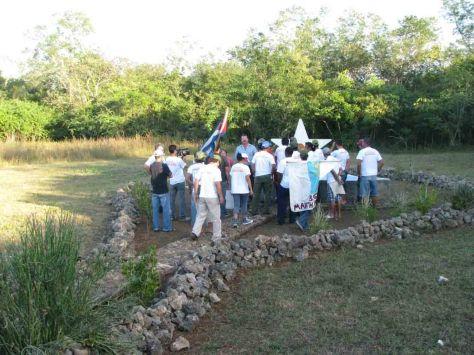 Llagada al lugar donde ocurrió la cena en 1959. Soplillar, Ciénaga de Zapata, Matanzas.