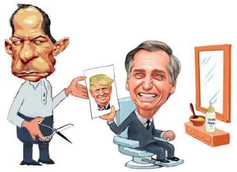 Bolsonaro caricatura