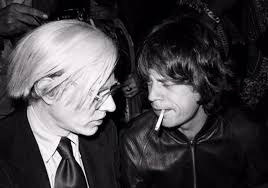 ANDY WARHOL Y MIKE JAGGER