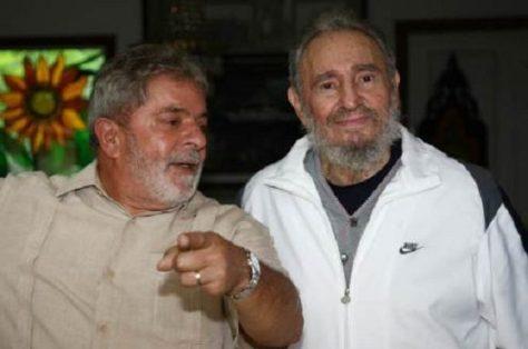 Fidel y Lula