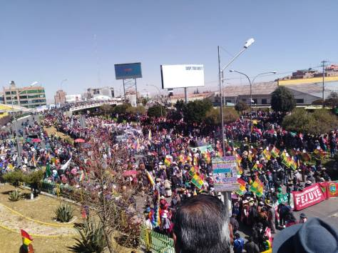 BOLIVIA, PROTESTAS 29.07